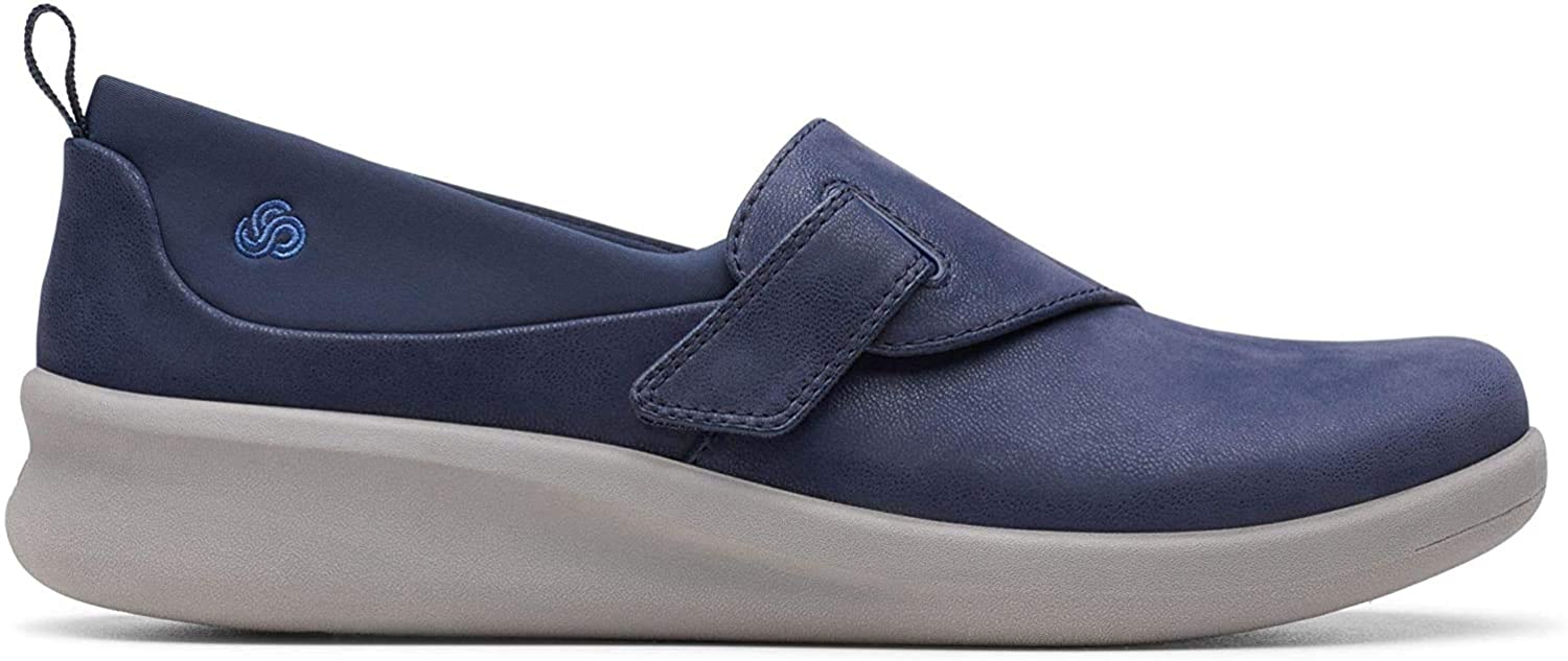 Clarks Women's Sillian2.0ease Loafers, Blue (Navy Synthetic Navy Synthetic), 5 UK