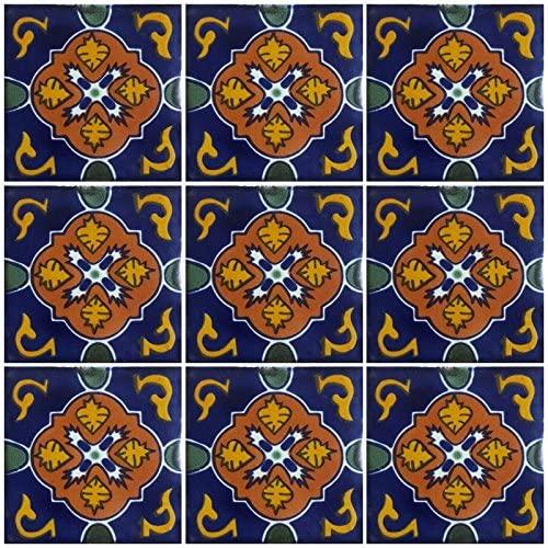 Ceramic Talavera Mexican Tile 4x4