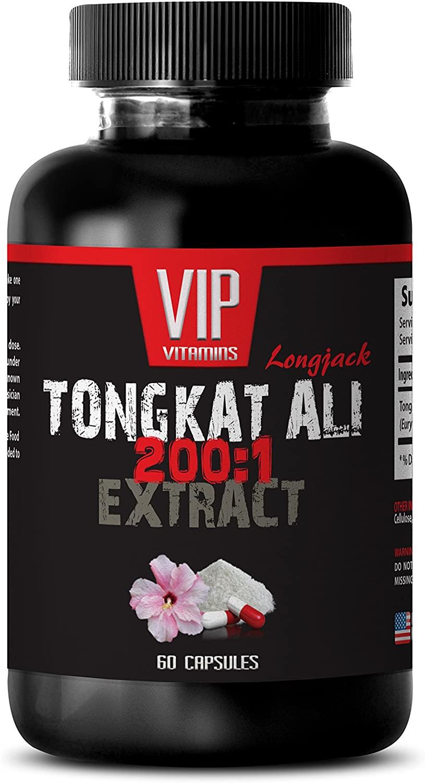 Boost Libido - TONGKAT ALI 200: 1 400 MG Extract - Eurycoma Longifolia - 1 Bottle 60 Capsules