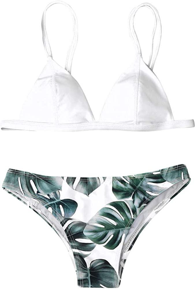 POQOQ Swimwear Women's One Piece Polka Dot Swimdress Cover Up Swimsuit Plus Size Modest M White