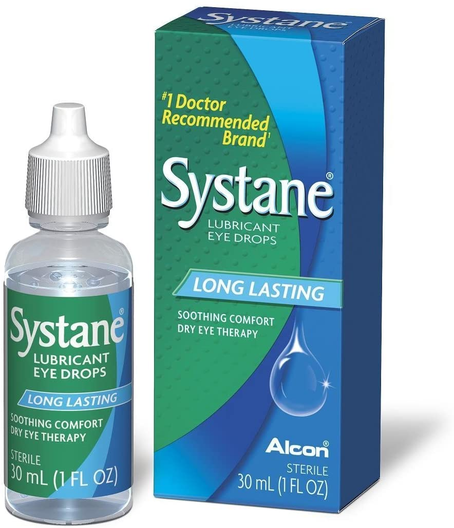 Systane Lubricant Eye Drops, 1-Ounce Bottles (Pack of 2)