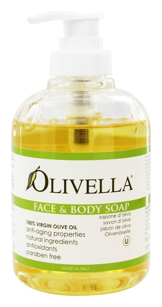 Olivella Virgin Olive Oil Face and Body Liquid Soap 10.14 oz (Pack of 3)