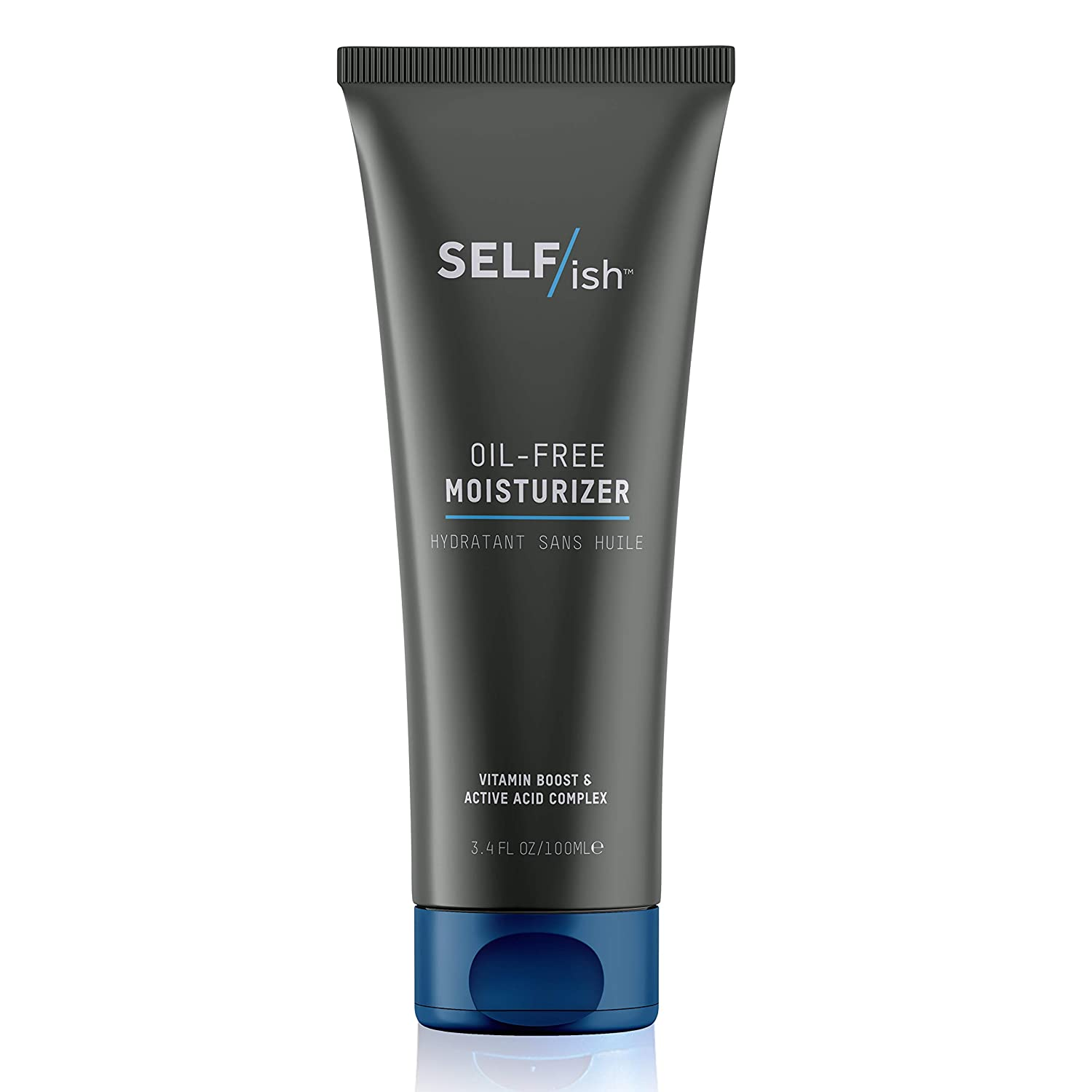 SELF/ish Mens Face Lotion | Oil-free Facial Moisturizer Made for Men | Anti-Aging | Quick-absorbing Lightweight Cream | Natural Ingredients | 3.4fl oz