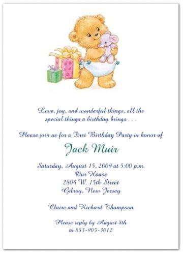 Bearing Gifts 1st Birthday Invitations - Set of 20