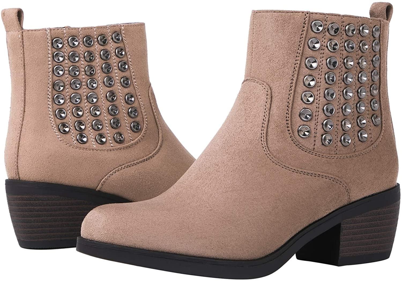 GLOBALWIN Women's 18YY08 Khaki Fashion Boots 9M