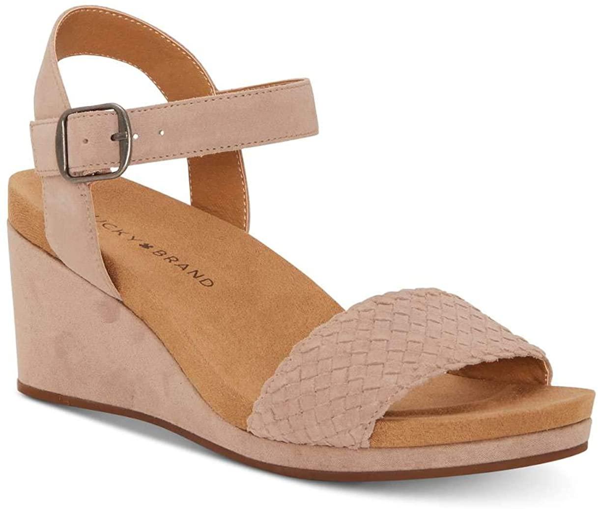 Lucky Brand Womens Kenette Leather Open Toe