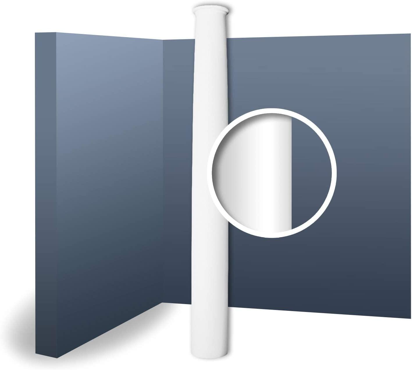 Full Column Shaft Stucco Decoration Orac Decor K1102 LUXXUS Lightweight and Impact Resistant 2.02 m