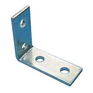 POWER STRUT PS607 Angle Fitting, Corner Angle, 4HOLE