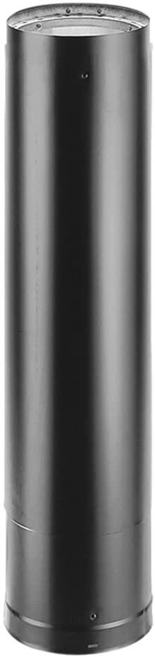 Copperfield 69005 6 x 12 Inch Dura-Vent Dura-black 24-ga. Welded Black Stovepipe