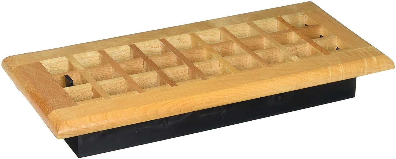 Decor Grates WEM410-N Floor Register, 4-Inch by 10-Inch, Natural Maple