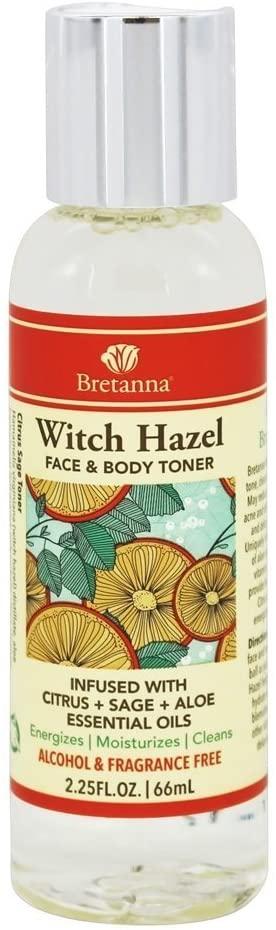 Bretanna Witch Hazel Toner Citrus Sage, 2.25 fl oz