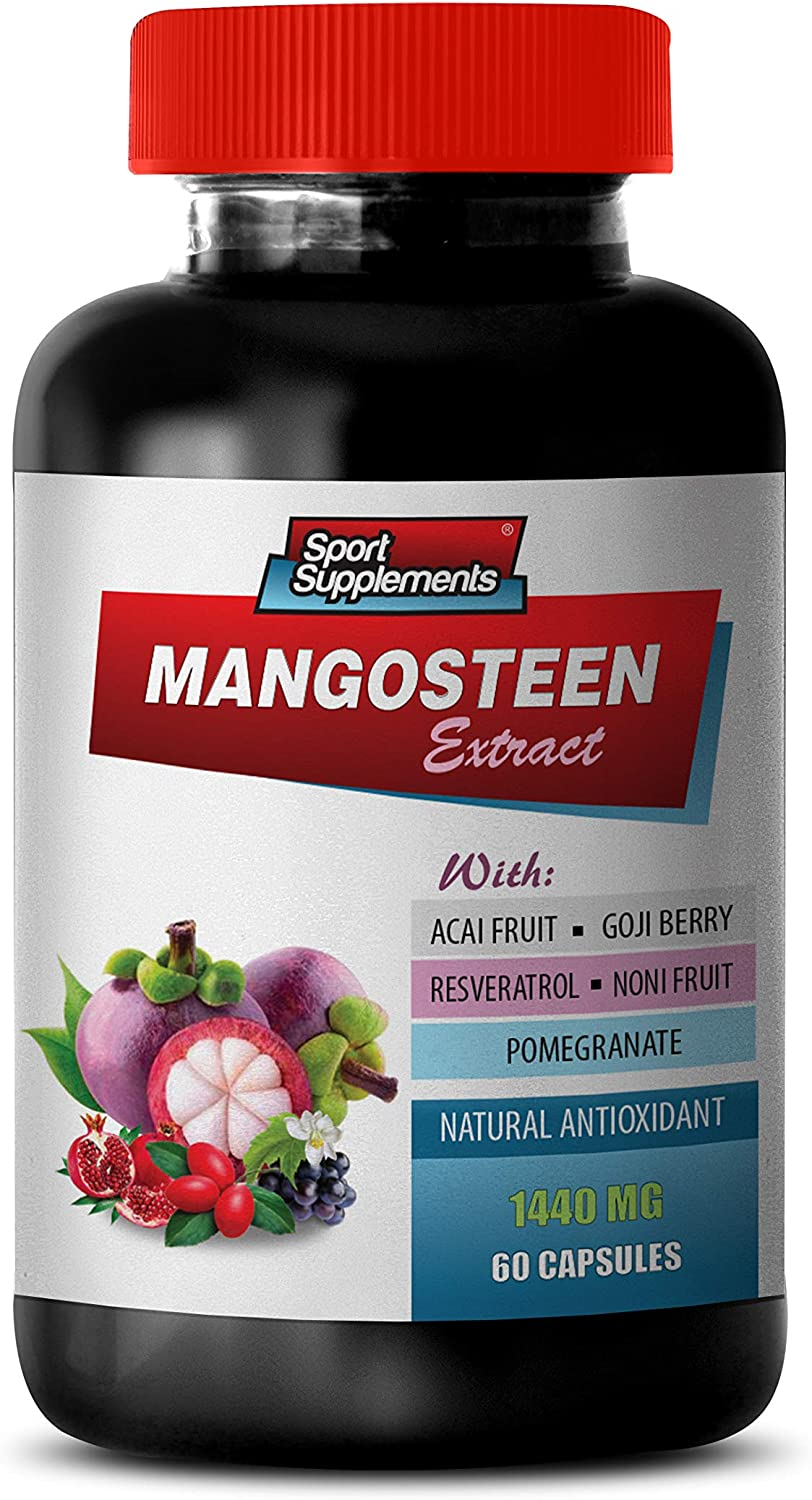 Blood Pressure Formula Supplements - Mangosteen Extract Complex 1440MG - Natural ANTIOXIDANT - Pomegranate Extract Capsules - 1 Bottle 60 Capsules