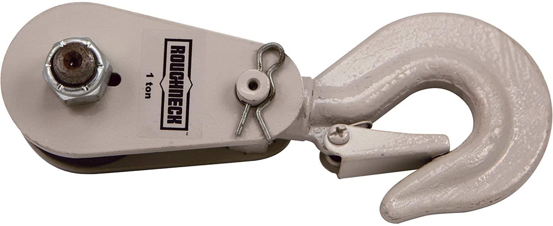 Roughneck Heavy-Duty Snatch Block - 1-Ton Capacity