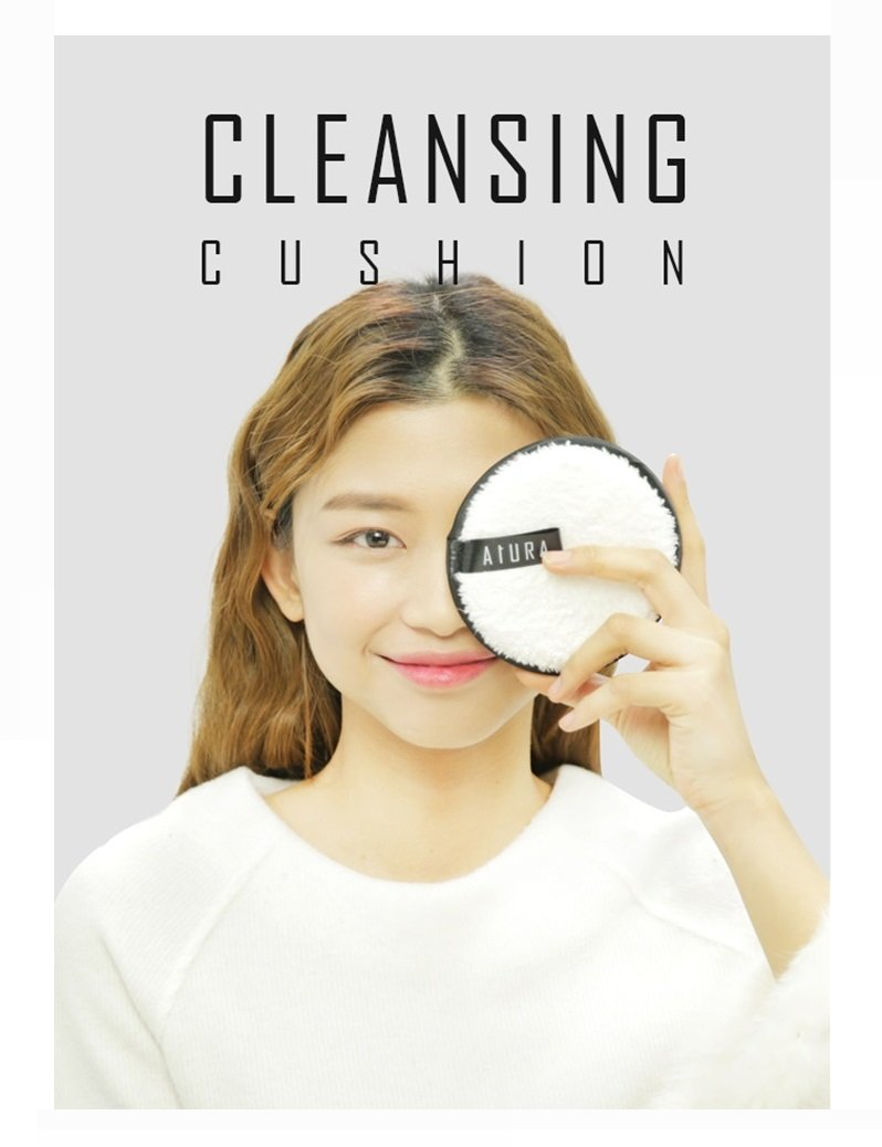 New Concept Aura Face Cleansing Pad & Pouch - Clean Your Make Up With Just Water And Aura Cleansing Pad - One Step Make Up Remover - Simply Remove Your Make Up Cleanly - Chemical Zero - Stilulus Zero