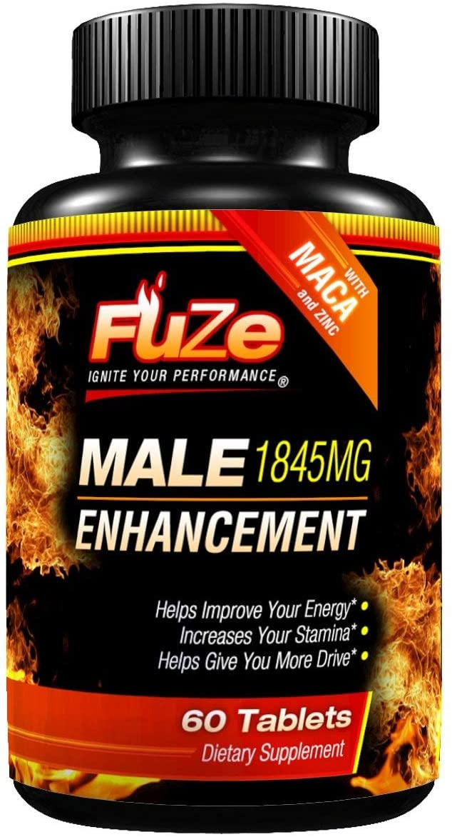 FUZE Male Enhancement Testosterone Booster for Increased Blood Flow Energy Sex Drive Libido - Ignite Your Performance - Helps Women with Menopause Symptoms Too