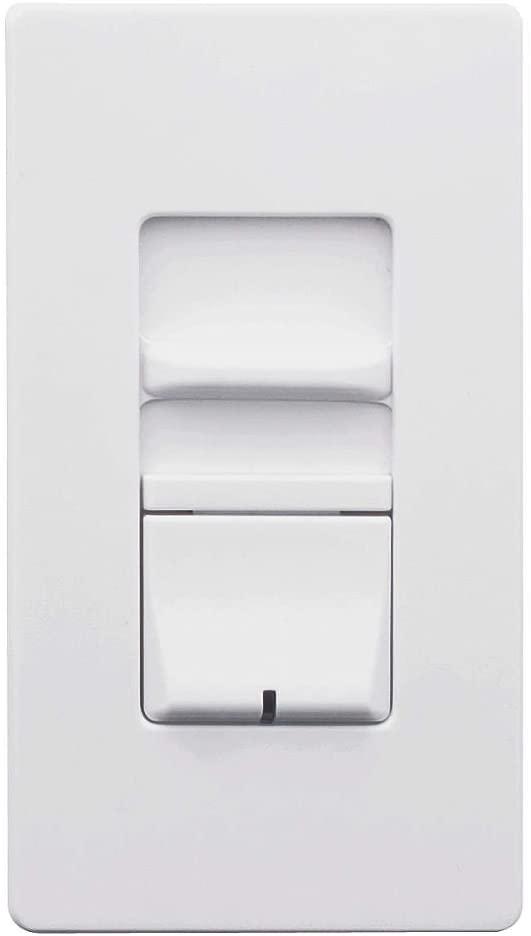 Leviton AWSMT-IBW Dimmer Switch 1000W Single-Pole Incandescent Renoir II Architectural Wall Box, White