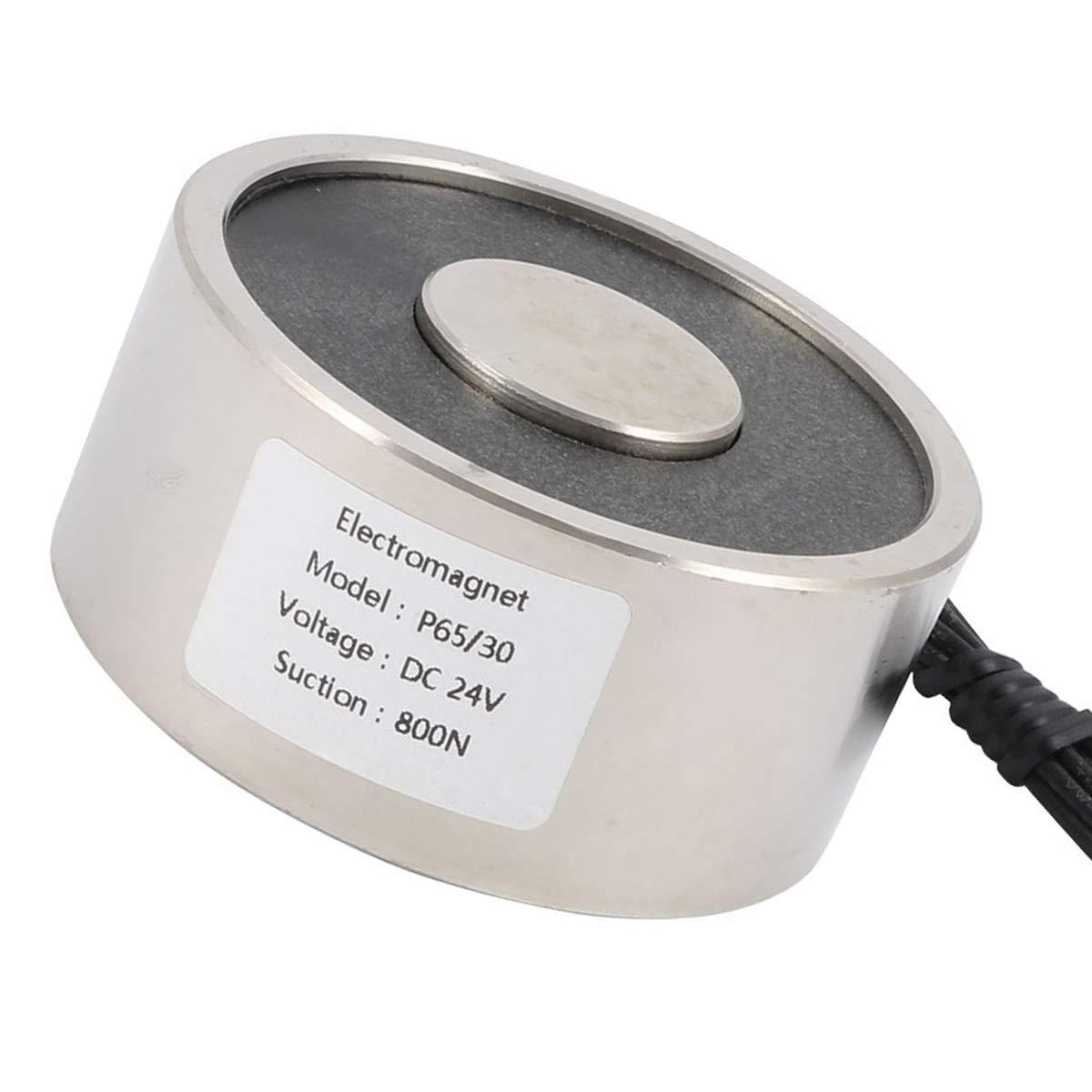 JJDD Electric Lifting Magnet 800 N Electromagnet Solenoid Holding Electromagnet Lift Magnets Lift Holding 24V DC 800 N
