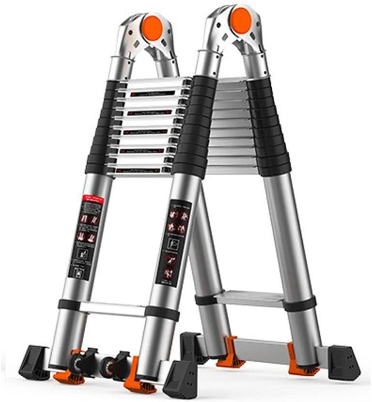 LADDERS Ladders Extension Telescopic s Luminium Portable Multi-Purpose Extension for Outdoor Portable Telescopic (Color :, Size : 3.4M)