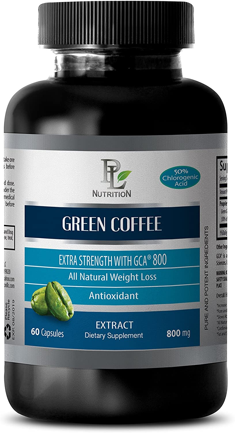Blood Sugar Harmony - Green Coffee - Extra Strength with GCA 800MG GCA 800MG - Green Coffee antioxidant - 1 Bottle (60 Capsules)