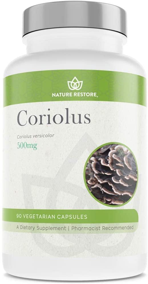 Coriolus Versicolor Mushroom Extract Supplement, 30 Percent Polysaccharides, Non GMO, Gluten Free, 90 Capsules, Original Turkey Tail Mushroom Supplement