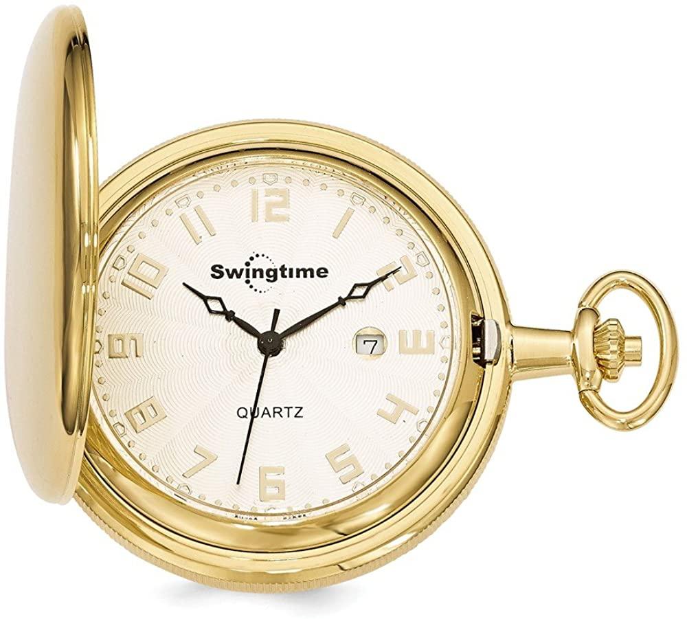Sonia Jewels Swingtime Gold-Finish Brass Quartz 48mm Pocket Watch 14
