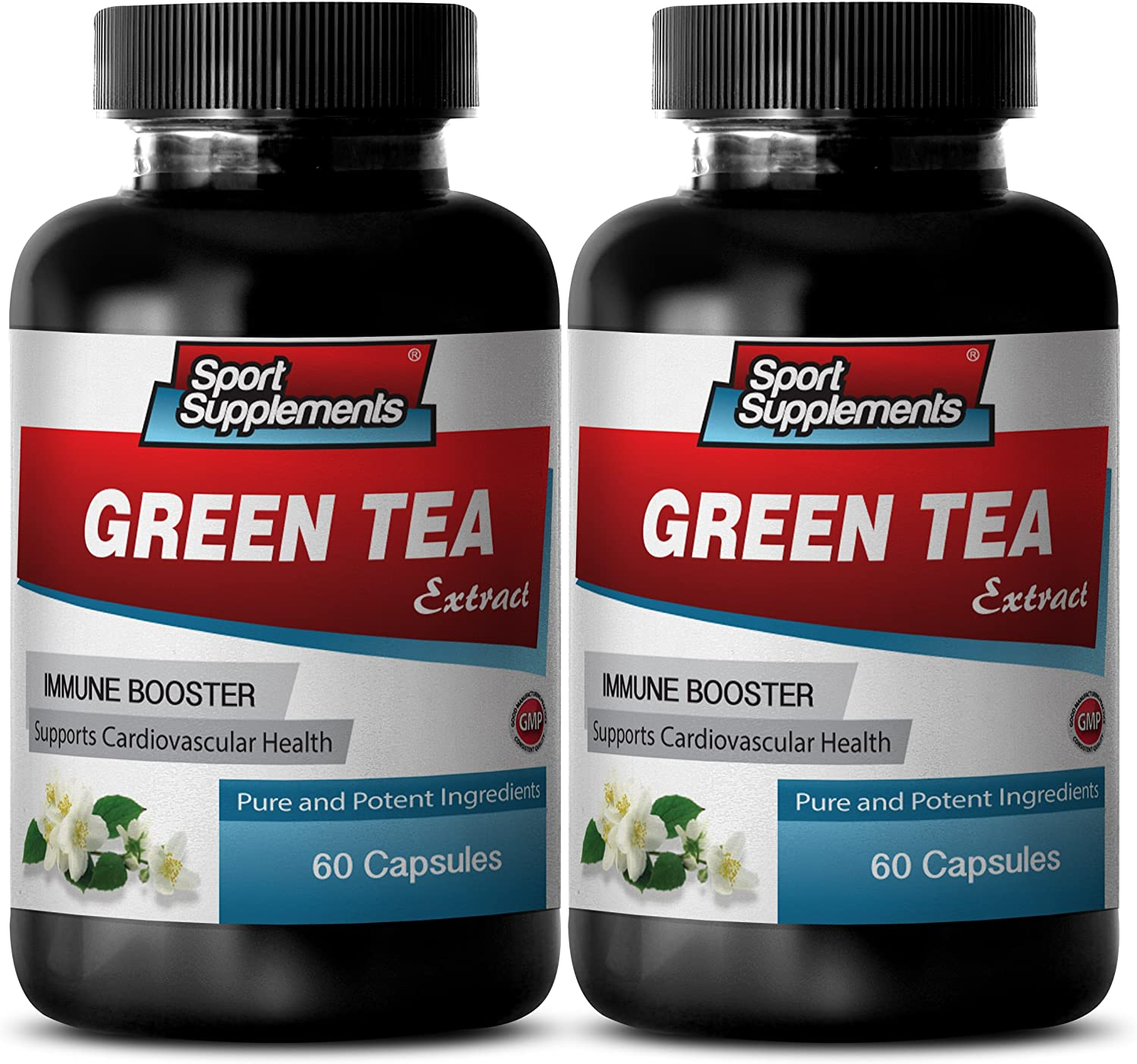 antioxidant Extreme Health Force - Green Tea Extract 300MG - Powerful ANTIOXIDANT - Natural Energy Boost - Green Tea Leaf Pills - 2 Bottles (120 Capsules)