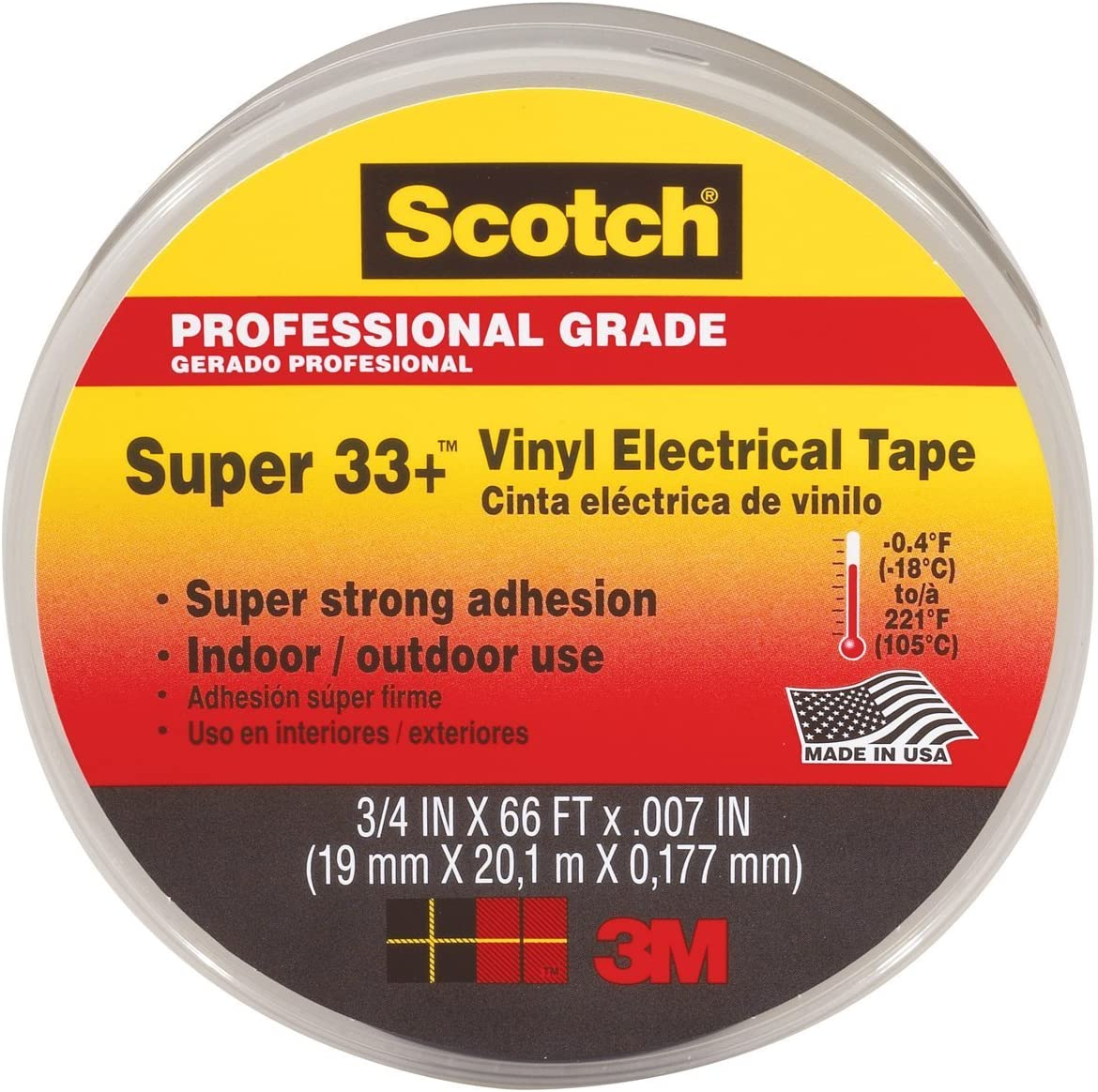 Scotch Vinyl Plastic Electrical Tape