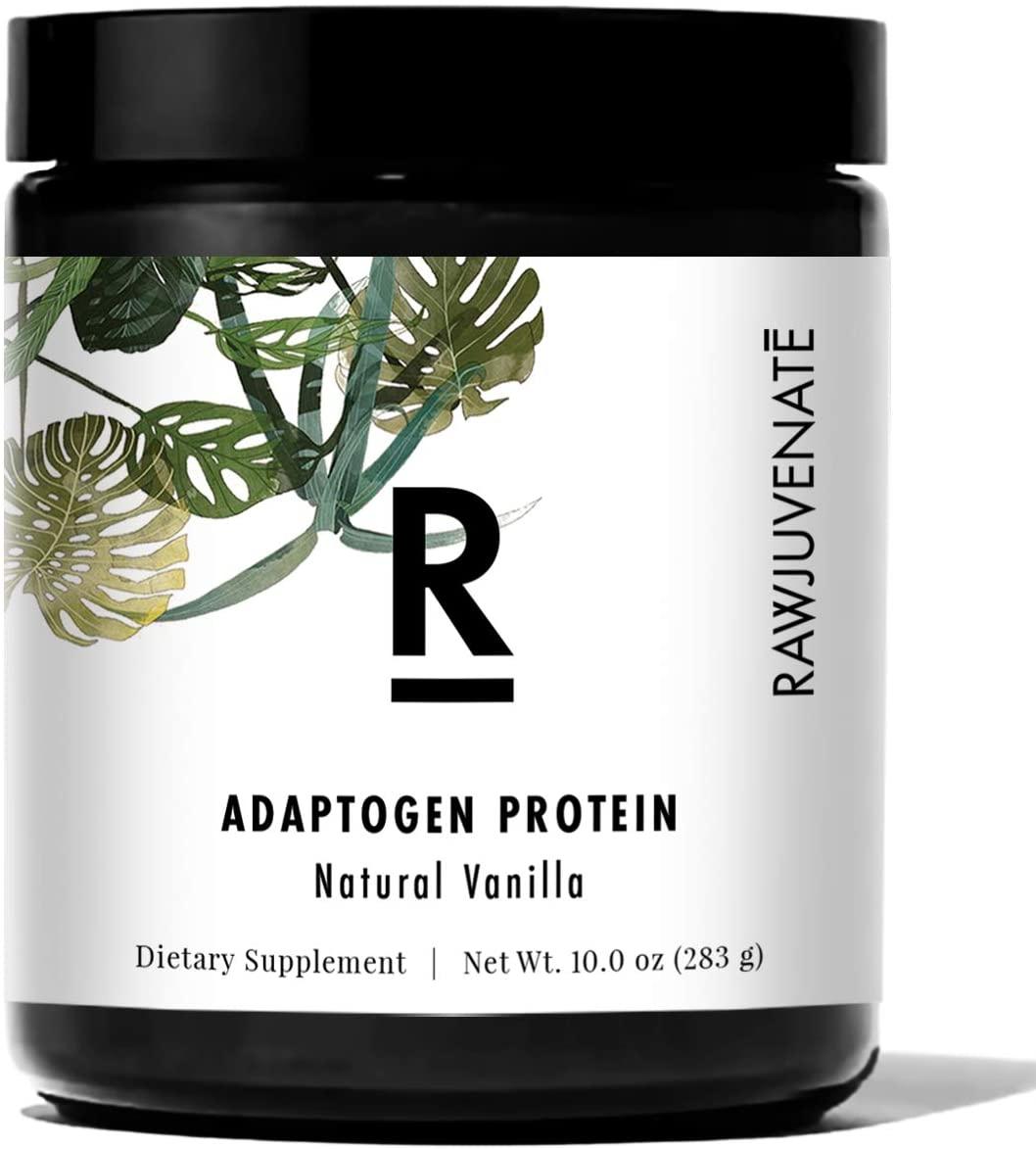 RAWJUVENATE Adaptogen Protein for Stress Relief, Vanilla, 10 oz