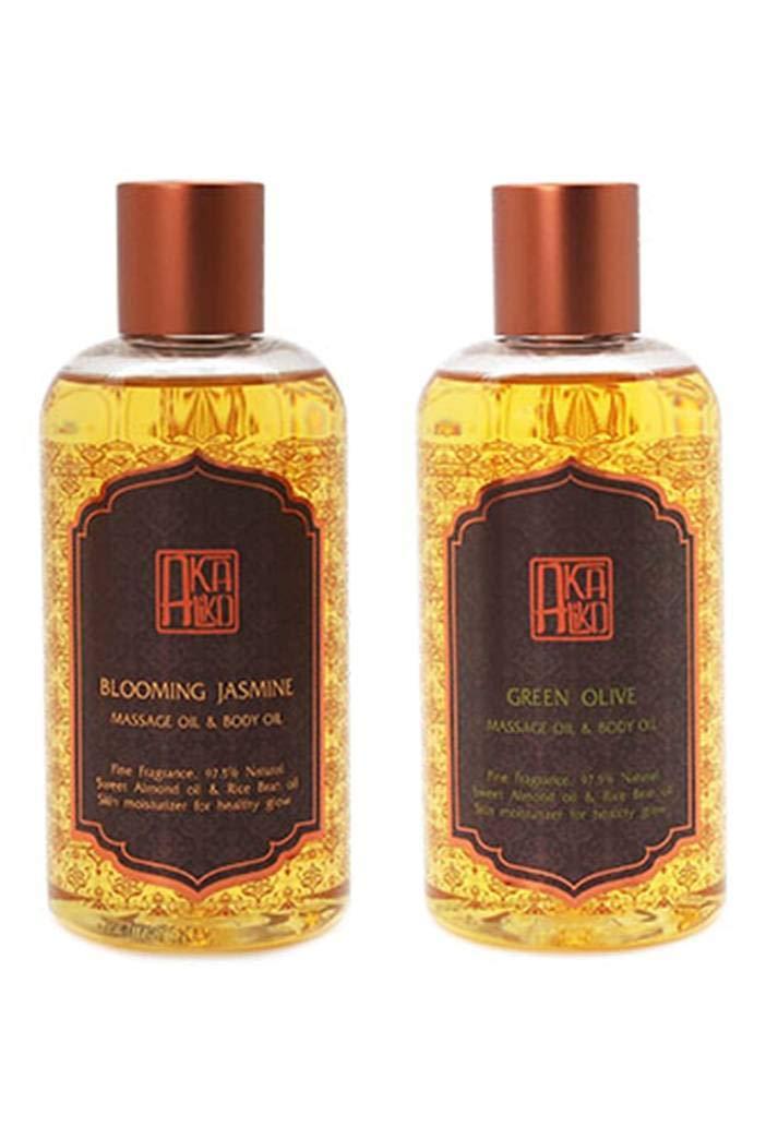 AKALIKO Body Oil and Massage Oil Set 1.