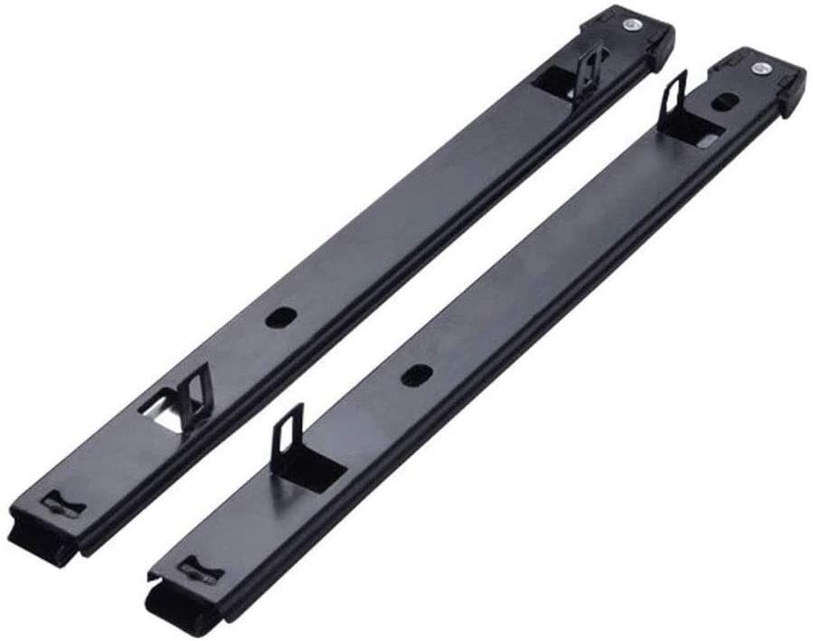 Drawer Slide Rail, 50mm 27mm Smooth Sliding Two-Segment Rail (a Pair Contains Two) Suitable for Office Furniture, cabinets, Closets, Kitchens 8.19