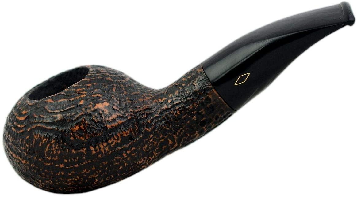 FAT BOB (Sabbiata 2112) briar sandblasted bent author tobacco pipe