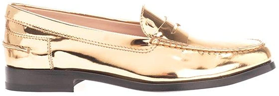 Tod's Luxury Fashion Woman XXW16C00011PL8G204 Gold Leather Loafers | Spring Summer 20