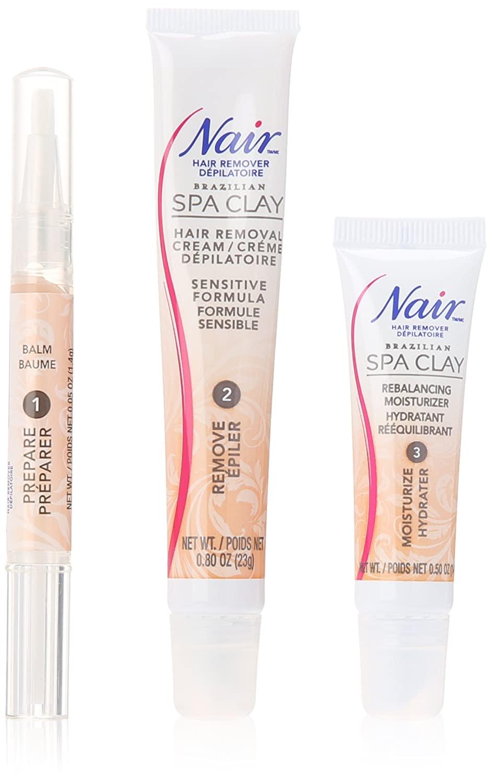 Nair Brazilian Spa Clay Total Care Face Trio, 1.35 Ounce