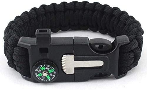AIYMO Military EmergencyBracelet Survival Parachute Bracelet no Flint Outdoor Scraper Whistle Buckle for Jewelry Men & Women