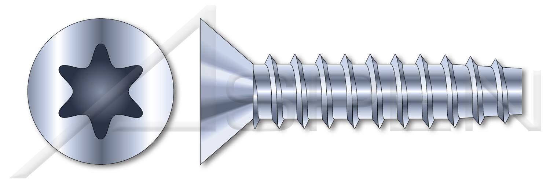 (1000 pcs) M3.5 X 16mm, Thread Rolling Screws for Plastics, Metric, Flat Head Torx(r) Drive, Steel, Zinc Plated