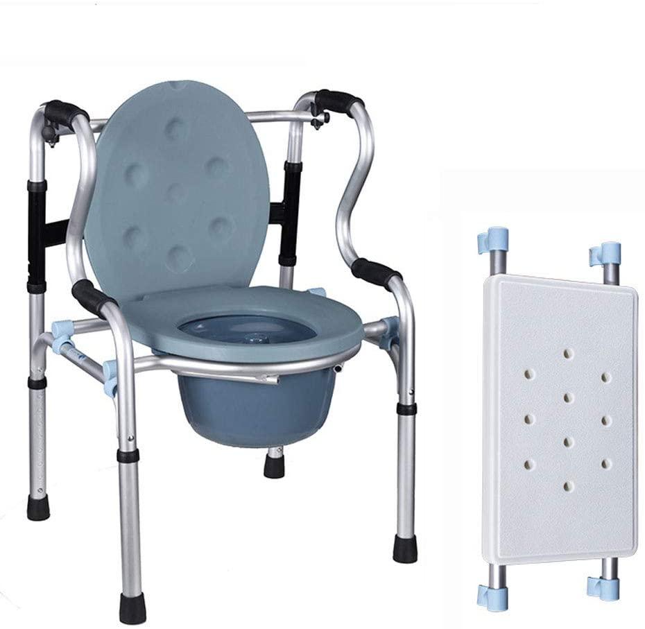 AWZSDF Elderly Walker Disabled Toilet Toilet Old Folding Toilet Bath Chair Pregnant Woman Mobile Toilet Stool,A