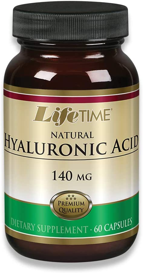 Lifetime Natural Hyaluronic Acid | Supports Healthy Skin & Joints | Skin Hydration, Joint Lubrication| Made in Our own Facility | 140mg | 60 Capsules
