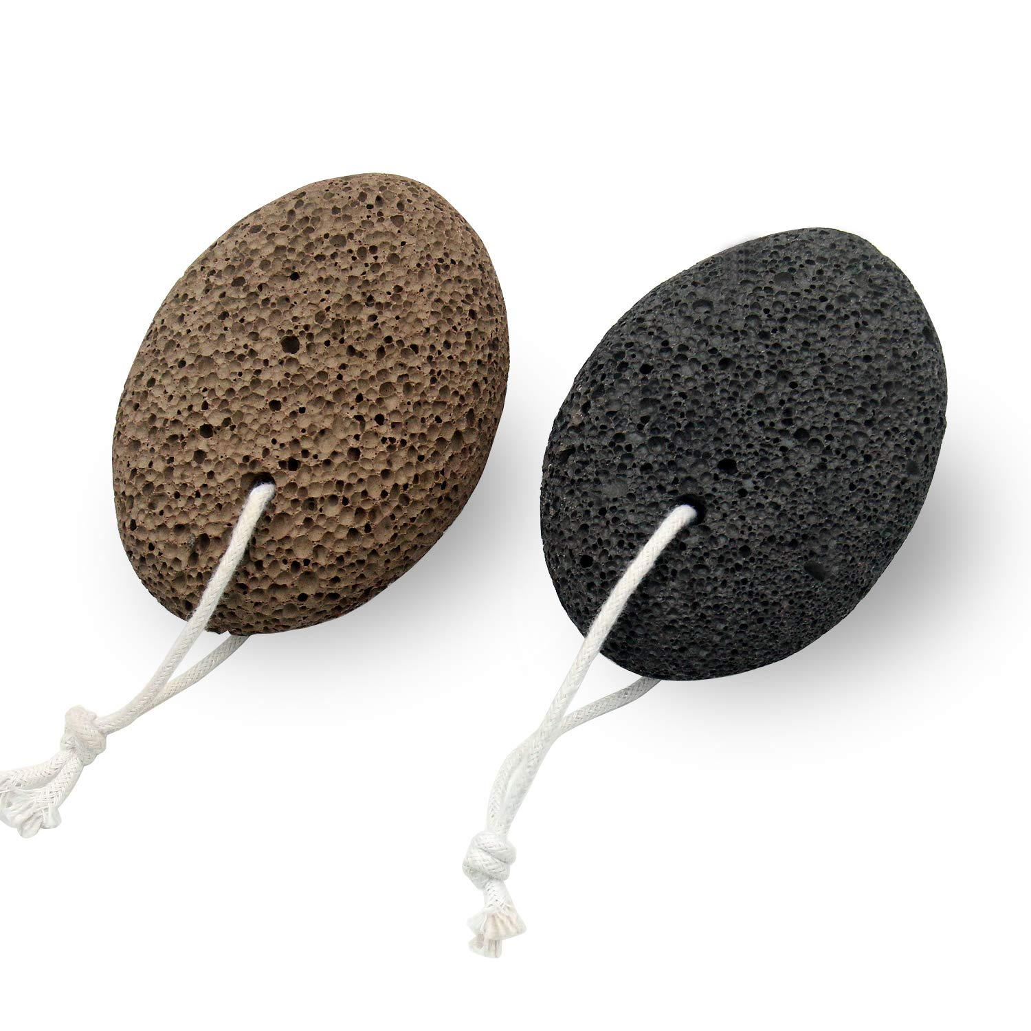 Glamne Natural Pumice StoneEarth Lava PedicureTools Callus Dead Skin Remover for Feet and Hands 2pcs