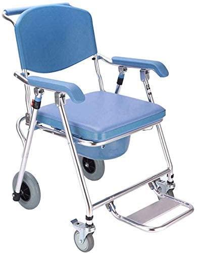 ZXY-NAN Bathroom Wheelchairs Wheeled Toilet Seat Elderly Toilet Wheelchair Disabled Mobile Toilet Seat Folding Toilet Pregnant Woman Bath Chair