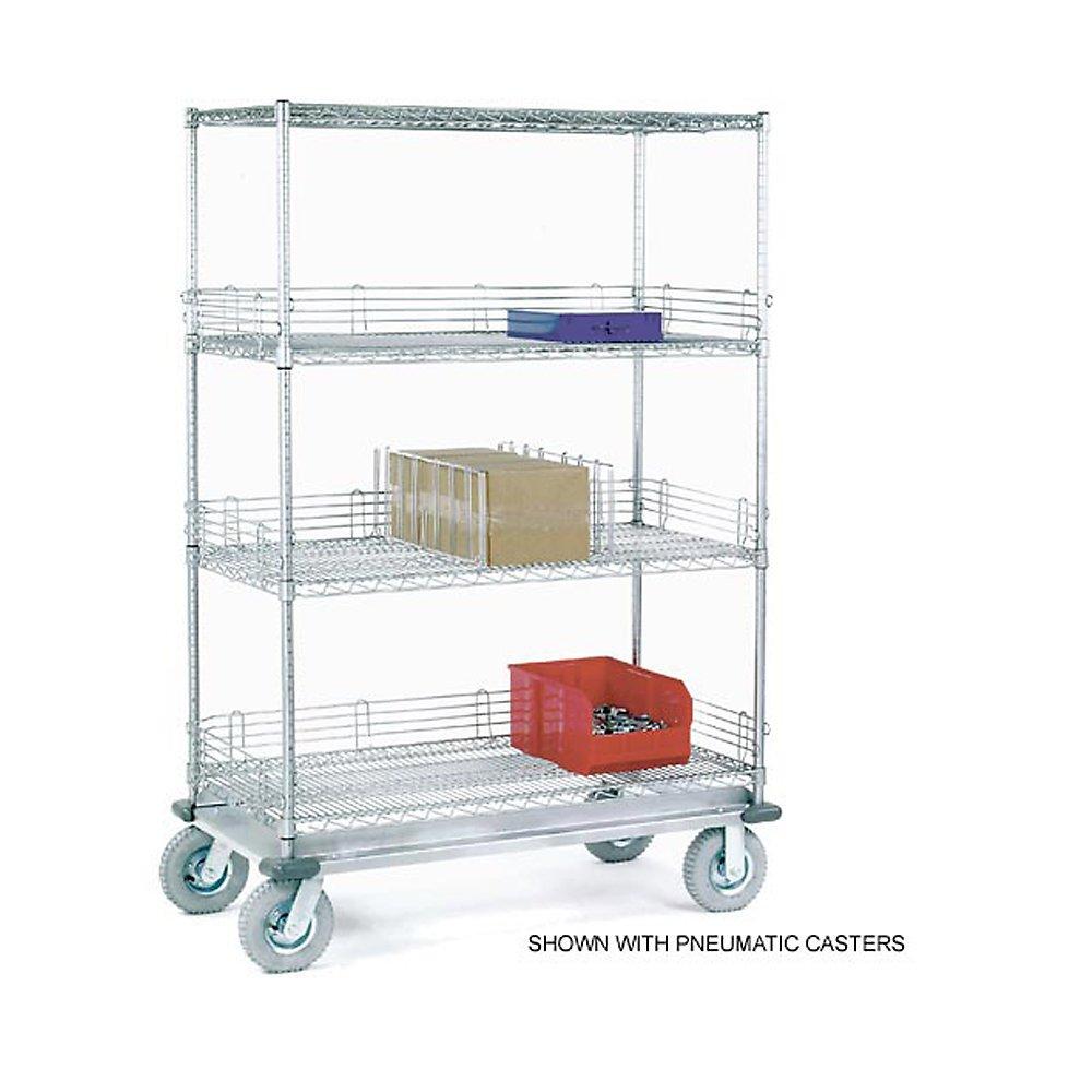 Nexel Chrome Wire Shelf Truck - 36X24