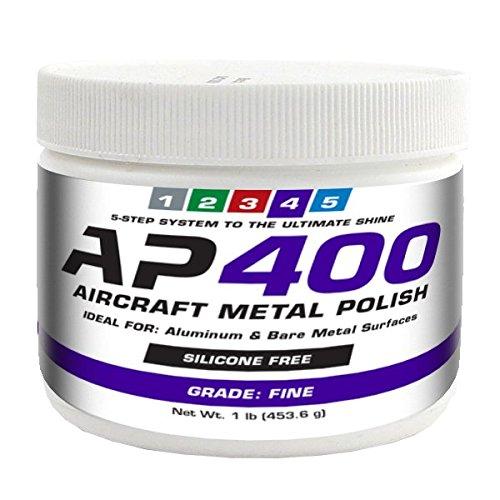 AP400 Aircraft Metal Polish (1lb) - Fine - for Airplane Aluminum & Bare Metal Surfaces, Brightwork, Meets Boeing & Airbus Requirements