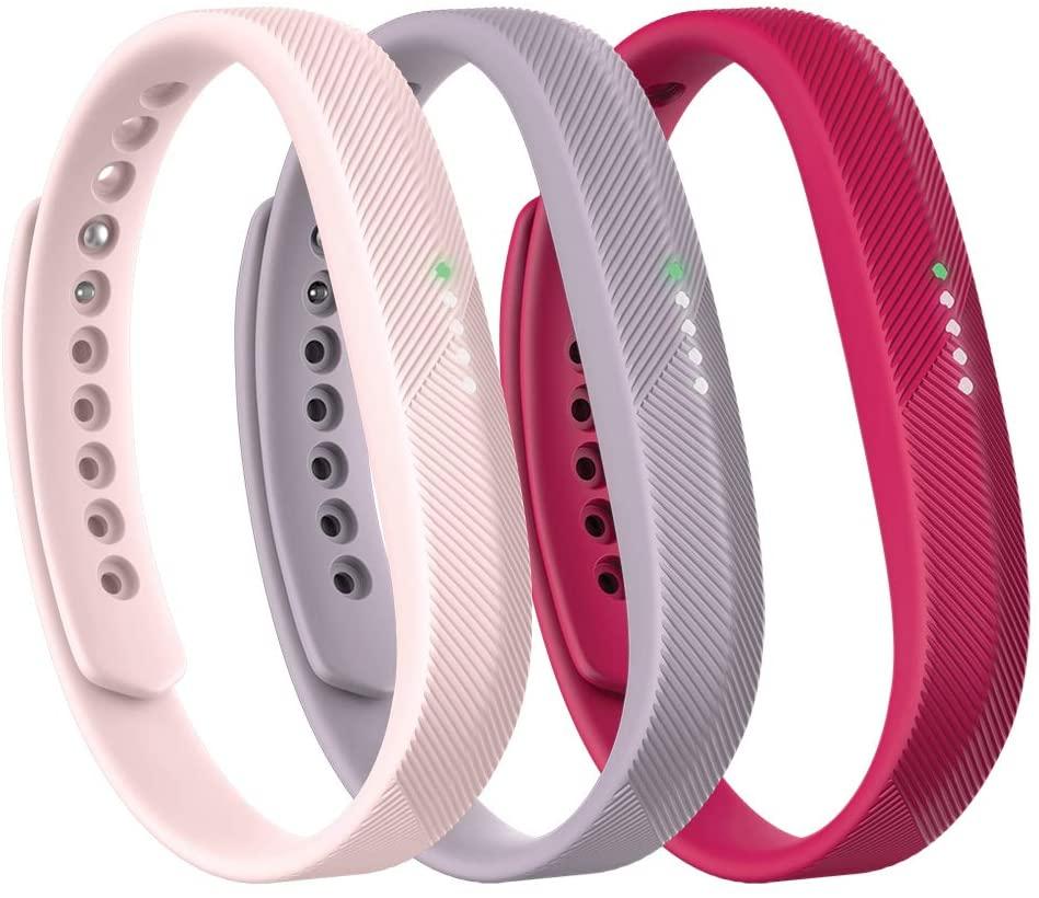 Fitbit Flex 2 Accessory 3 Piece Pack, Pink, Large, 0.13 Pound