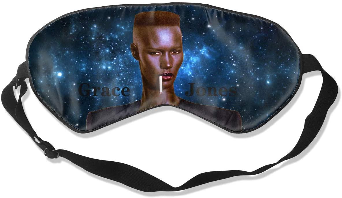 WushXiao Luanelson Grace Jones Nightclubbing Fashion Personalized Sleep Eye Mask Soft Comfortable with Adjustable Head Strap Light Blocking Eye Cover