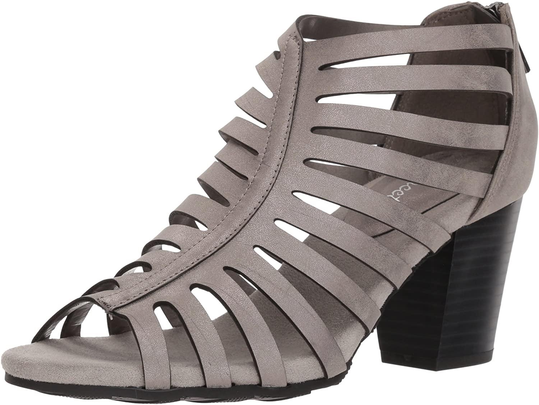 Easy Street Women's Dreamer Heeled Sandal, Pewter Metallic, 8.5 W US