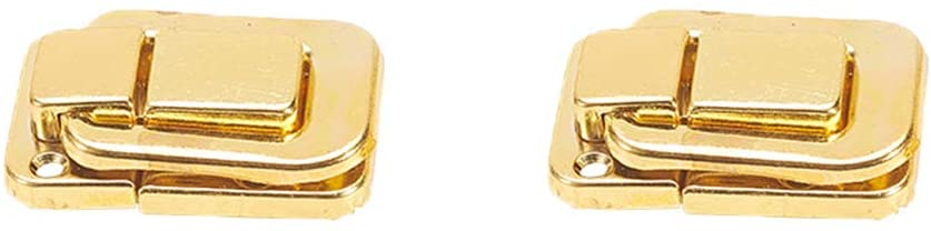 MroMax Toggle Catch Lock, 48mm Retro Decorative Golden Hasp w Screws for Suitcase Chest Trunk Latch Clasp, Pack of 2