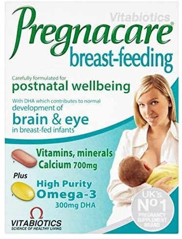 THREE PACKS of Vitabiotics Pregnacare Breast Feeding Capsules x 84 by Vitabiotics