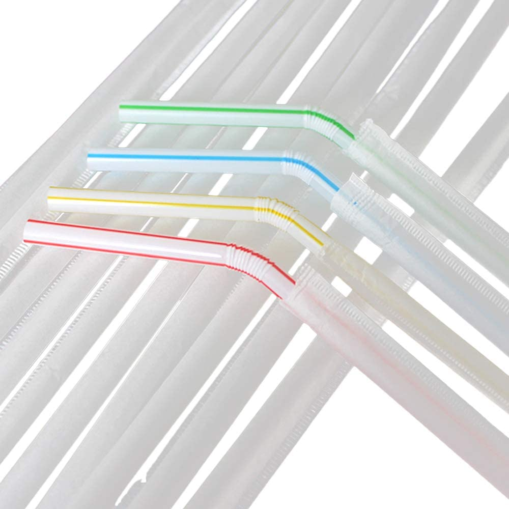 Qsir 6 210mm Straws Disposable Straws Individual Packaging Household Bending Straws Pregnant Women And Children Straws 200 Pieces Lottery