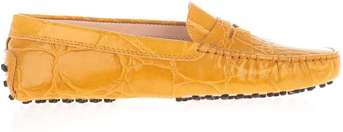 Tod's Luxury Fashion Woman XXW00G00010XLXG407 Yellow Leather Loafers | Fall Winter 20
