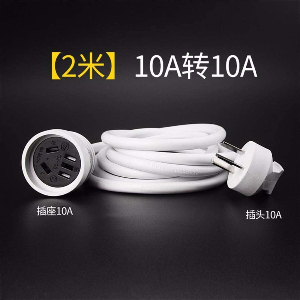 Calvas Power extend cord 10A to 10A 2meter 79inch for home appliances/airconditioner water heater power cord,1ea/lot