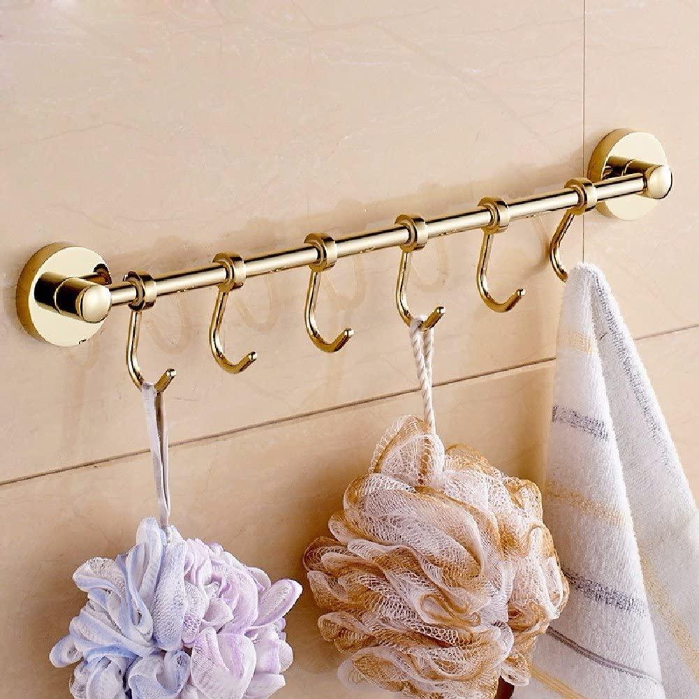WAWZJ Robe Hooks European Golden Line Hook Hook Multifunctional Activities